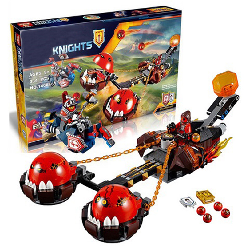 Lepin 14004 Knights Beast Master Chaos Chariot Building Bricks Blocks Set Kids Toys Compatible 70314 Nexus Knights 334pcs/ Set dhl new lepin 06039 1351pcs ninja samurai x desert cave chaos nya lloyd pythor building bricks blocks toys compatible 70596