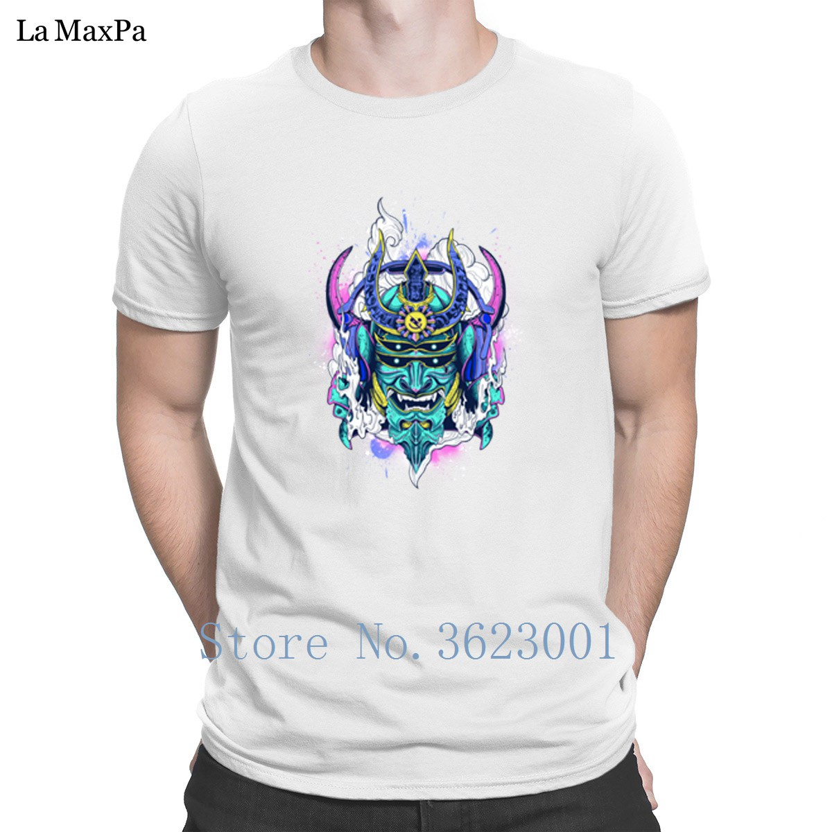 Create Letters Tshirt Man Romantic Of Electronic Samurai Mens T-Shirt Popular Summer T Shirt Great Tee Shirt Man Fit Size S-3xl