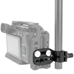 """Image 5 - Niceyrig mini placa de liberação rápida 15mm haste braçadeira para 1/4 """"3/8"""" placa queijo suporte câmera rig braçadeira sapato frio microfone suporte"""
