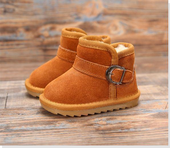 Zapatos de bebé para las niñas botas de invierno niños calentamiento de algodón acolchado zapatos niños niñas algodón de la felpa caliente botas de niño del bebé waterphoof
