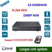 CCTV 4CH 1080P IP Network Video Record NVR HDMI ONVIF Android Support 1T/2T/4T/6 HDD Multi-language
