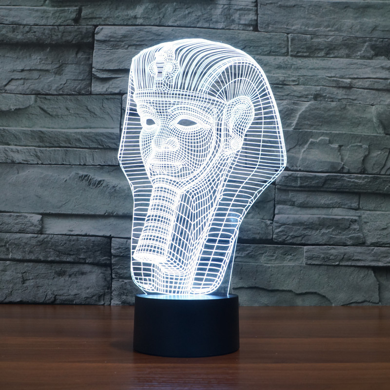 new Pharaoh 3D lights colorful touch LED visual lights gift decoration atmosphere