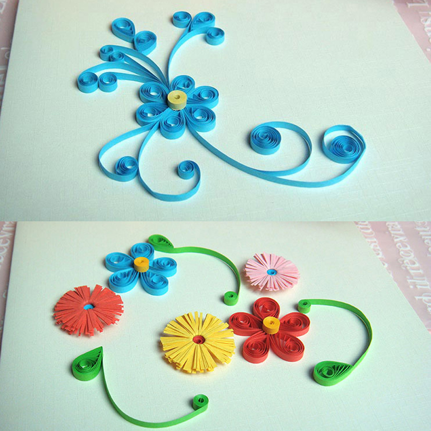 5pcs Different Size Origami Paper Quilling Slotted Tools Kit For