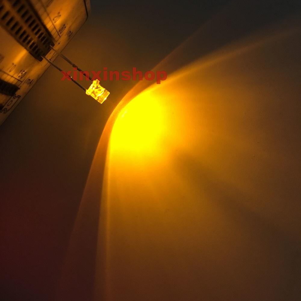 500pcs x Orange 5mm Flat top LED Wide Angle Led Light lamp led 2pin