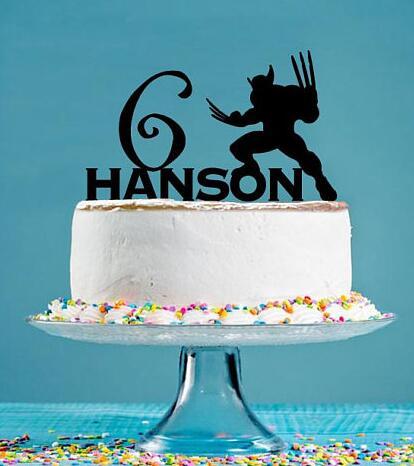 Brilliant Personalized Acrylic Superhero Birthday Cake Toppers Baby Shower Funny Birthday Cards Online Necthendildamsfinfo