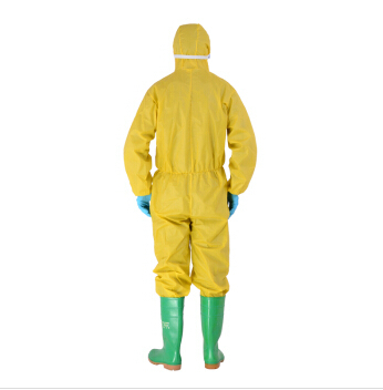 Breathable membrane medical non-woven protective clothing one piece work wear disposable surgical gown bunny suit