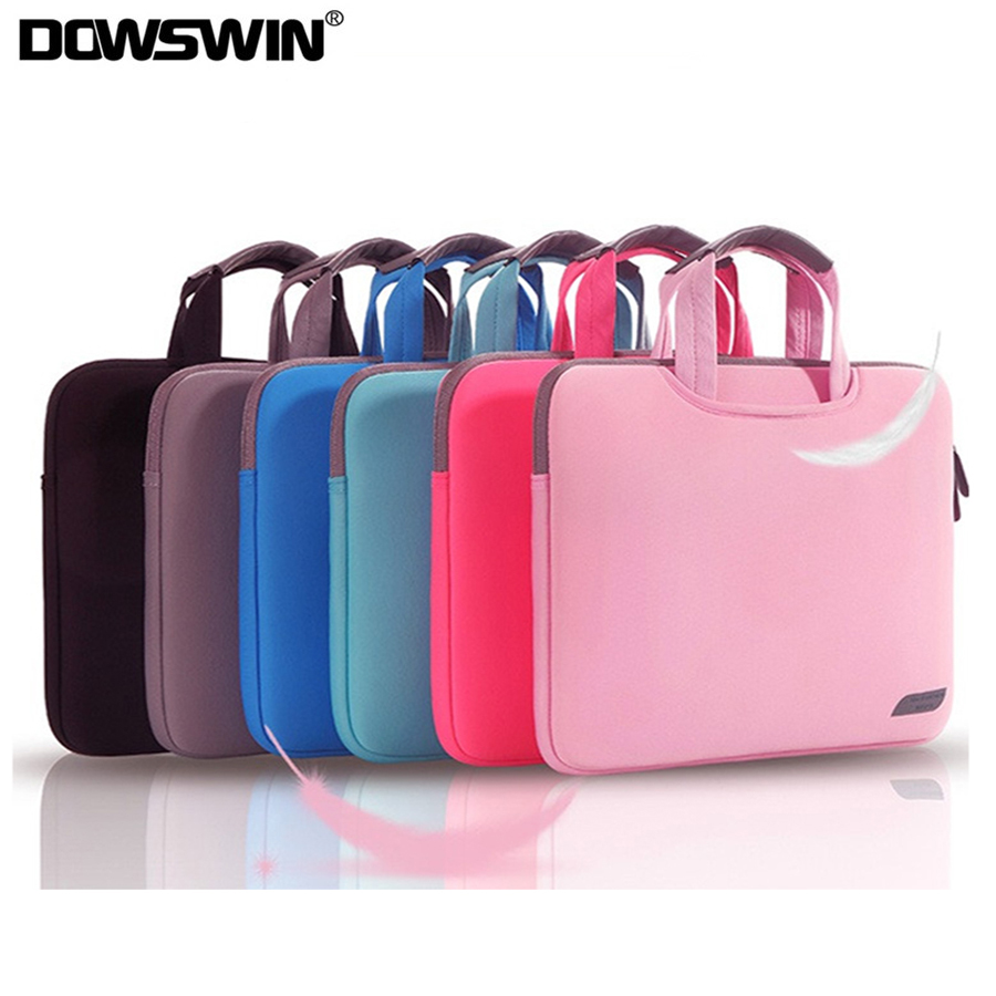DOWSWIN Caso Bolsa de Laptop para Macbook Air Pro Retina 13 15 Laptop Manga 15.6 Notebook Bag Para Dell Acer Asus HP Business Bolsa