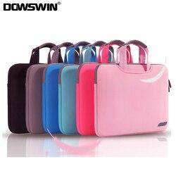 Dowswin estojo para laptop, estojo portátil para macbook air pro retina 13 15, laptop sleeve 15.6, notebook para dell ace asus bolsa de negócios da hp