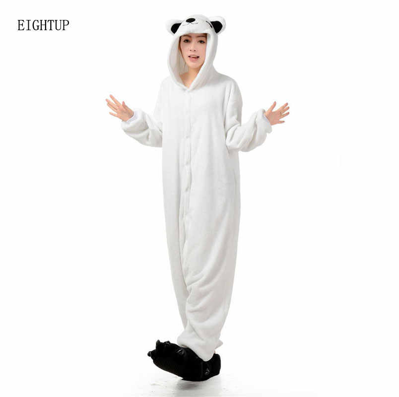 Кигуруми белый полярный медведь kigurums Пижама для взрослых Onesie унисекс  пижамы Хэллоуин для рождественской вечеринки пижамы 4f58c293d5896
