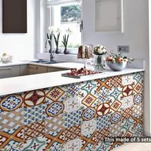Room Decor 15*15cm/20*20cm Turkish Ceramic Tiles DIY PVC Waterproof Self Adhesive Furniture Bathroom Wall Deacals Tile Sticker
