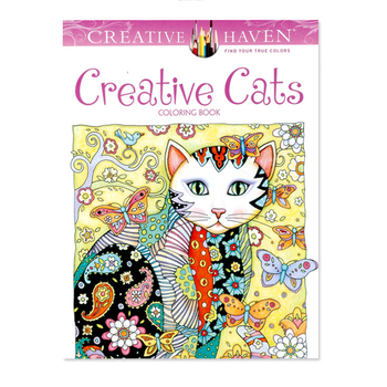 Creative Haven Creative Cats Coloring Books For s 24pages Stress Relieving Antistress Coloring Book  Coloring Books