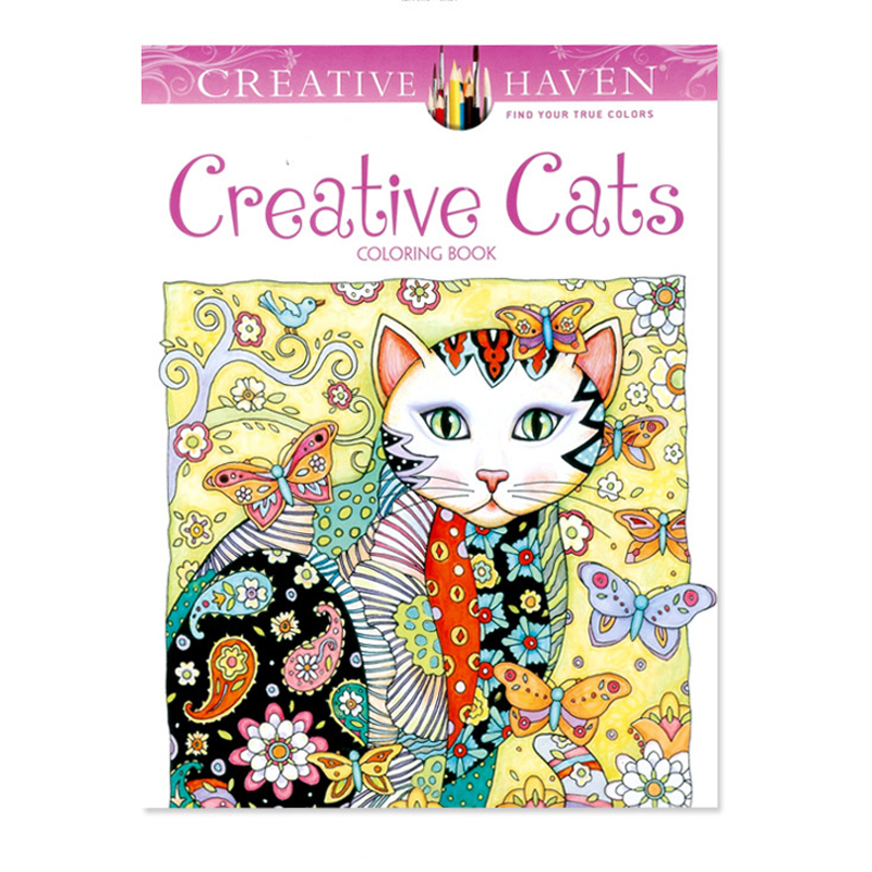 Creative Haven Cats Coloring Books For Adults 24pages Stress Relieving Antistress Book Adult