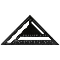 12 inch high precision aluminum alloy black triangle ruler 30 cm triangular plate