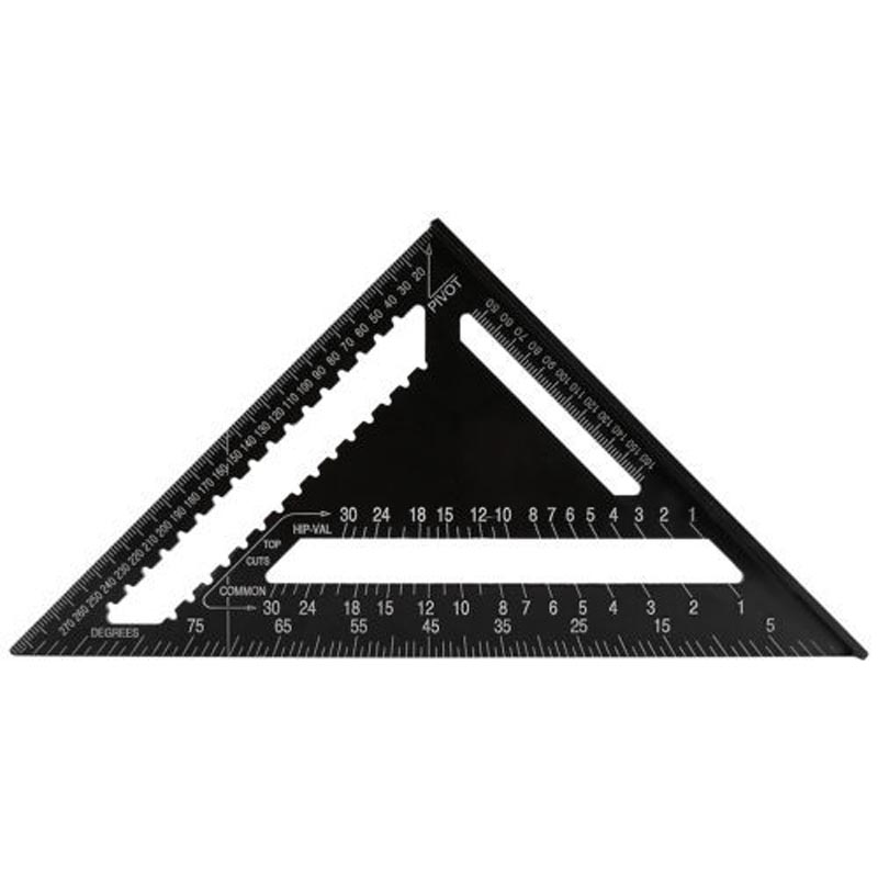 12 Inch High Precision Aluminum Alloy Black Triangle Ruler ...