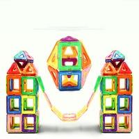 168PCS Magnet Building Tiles Clear Magnetic 3D Building Blocks Construction Play boards