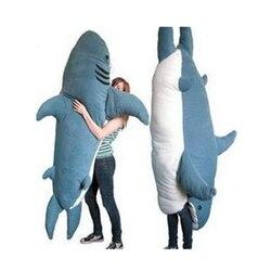 Fancytrader Pop Giant Haai Knuffel Slaapzak Bite Me Sharks Tatami Slaapbank