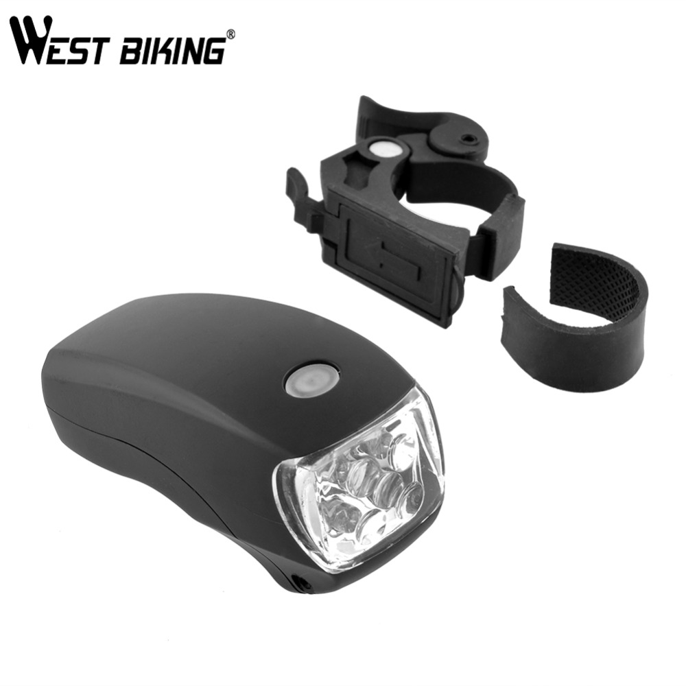 Cycling Lights Bike Bright 5 LED Front Head Light Bicycle Lamp 3-Modes Torch