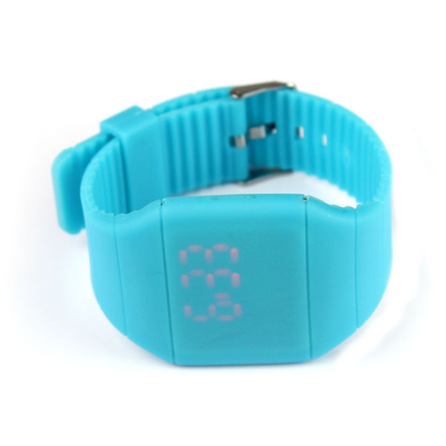 #5001aterproof Mens Womens Digital LED Touch Sports Silicone Bracelet Wrist Watc