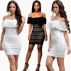 Women S Pure Color Lace Sexy Collar Spot Gagaopt Clothing Summer Beach Bodycon Dresses Brazil Roupa