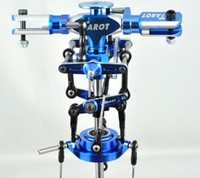 F00657 Tarot Metal Main Rotor Head set (Blue) TL2413 For TREX T REX 450 Sport V3 Rc Helicopter + Freeship