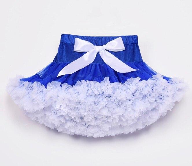 Юбка-пачка для девочек; детская юбка-пачка; Радужная юбка-пачка; одежда для мамы и дочки; ярко-синяя и красная юбка-пачка - Цвет: Белый