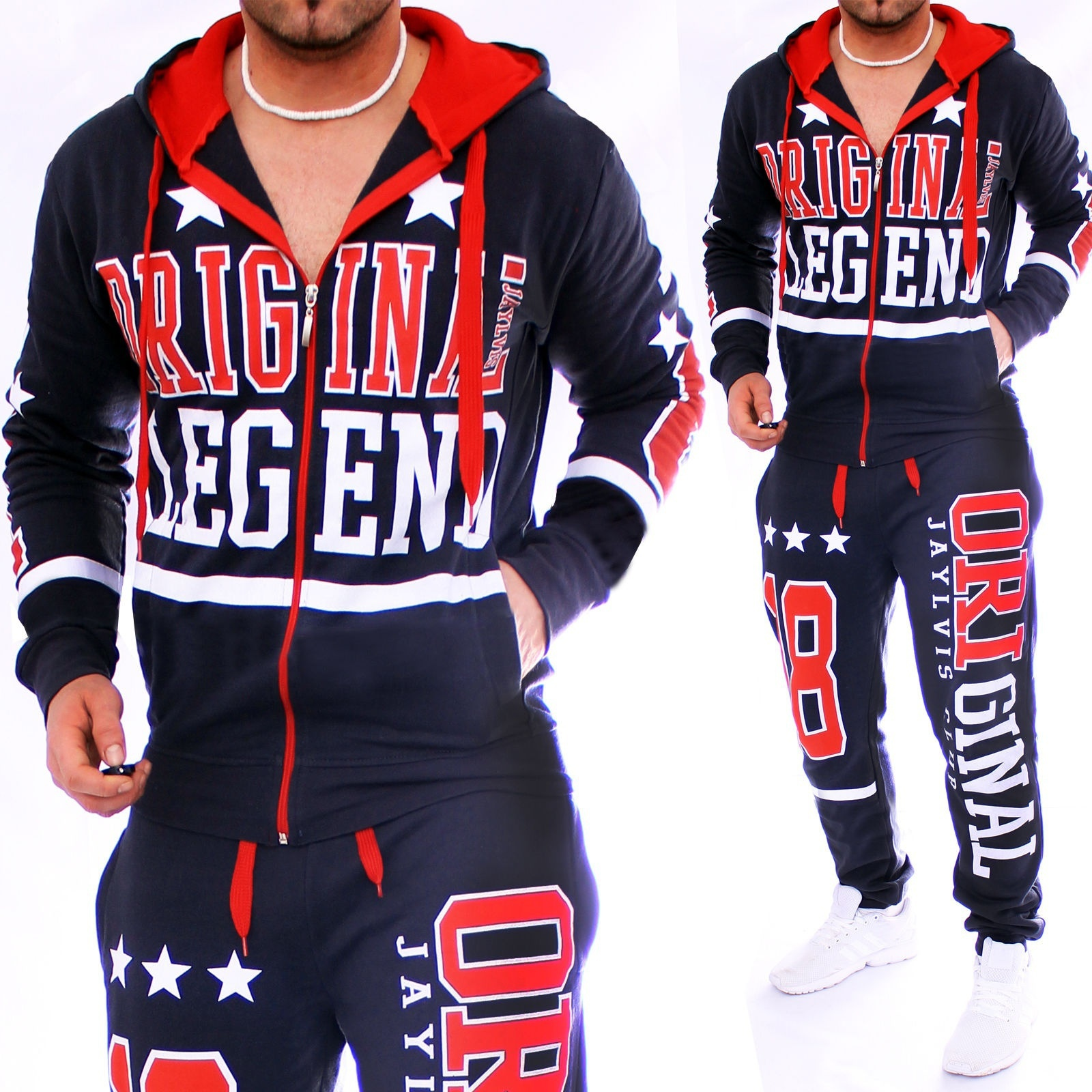 Zogaa 2019 New Men's Fashion String And Designer Hoodies And Sleeveless Set Causal Zipper Sportswear Suit 4 Colors
