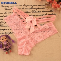 Womens Lingerie Lace Bow-knot Erotic Sexy Silk Briefs Underwears Panties Knickers