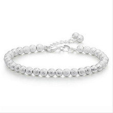 TJP Trendy Frosted Balls Girl Bracelets Anklets New Fashion 925 Silver Women Accessories 2018 Hot Female Party