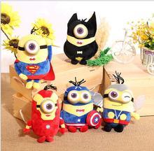 2016 Minions plush dollsThe Avengers Super Hero Spiderman&Superman &Batman & Captain America & Ironman & Thor Action Figure Toys
