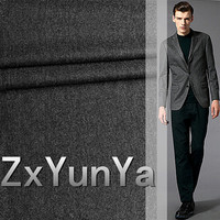 European quality sanded grey suit real fleece Worsted suit wool fabric for cloth garment pants