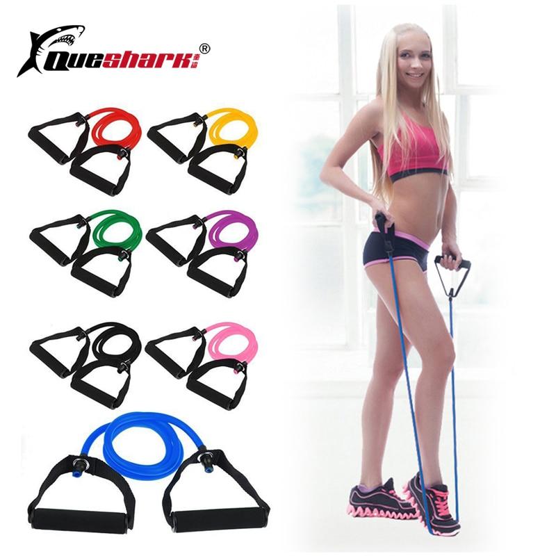 1Pcs Yoga Pilates Pull Rope Fitness Resistance Bands Exercise Tubes Gym Training Elastic Band Rope Crossfit Workout Cordages