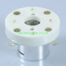 2pcs 4Pin new Ceramic Sliver Tube Socket top mount for FU5 845 211 805 810 VT4C