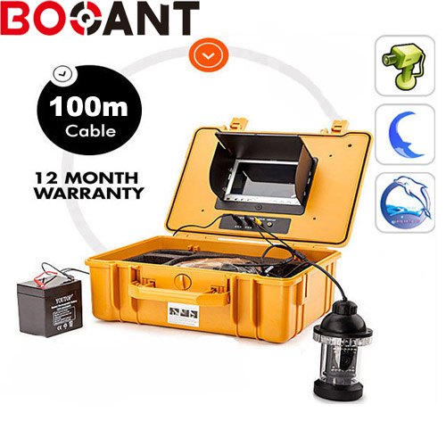 360 DEGREE Rotation 100m Underwater video Camera,100m underwater fish camera with 7 Inch LCD moniot box battery charger levett caesar prostate massager for 360 degree rotation g spot