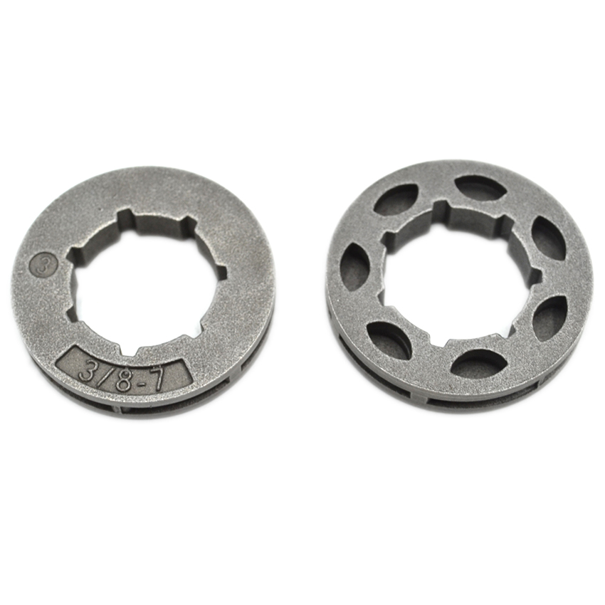 2PCS 3/8 -7T Clutch Rim Sprocket For Partner 350 351 Chainsaw Parts chainsaw clutch drum rim sprocket 3 8 7t needle bearing kit for husqvarna 61 66 162 266 268 272 jonsered 625 630