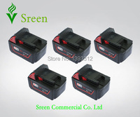 5 X New 3000mAh 18V Rechargable Lithium Ion Replacement Power Tool Battery For Milwaukee M18 XC