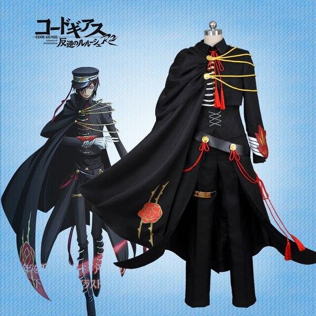 Customize10th Anniversary Military Uniform Anime Code Geass Zero Lelouch Lamperouge Figure Cosplay Costume