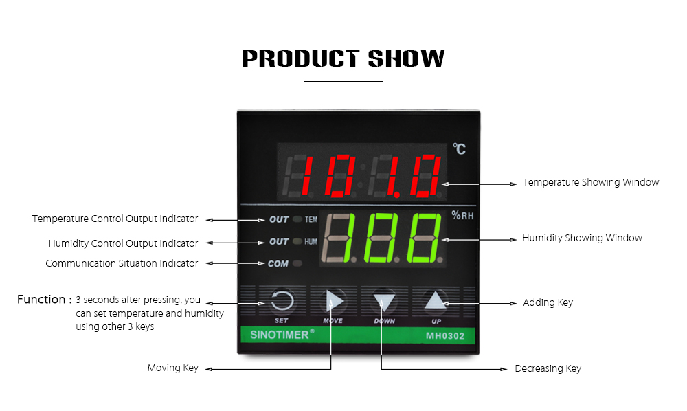 Mh0302 Intelligent Temperature Humidity Controller Regulator. Wiring Diagram There Is A On The Side Of Controller Which Enables Users To Do Without Fault. Wiring. Wiring Diagram Humidity Controller At Scoala.co