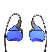 Ak bqeyz bq3 3ba + 2dd híbrido em fones de ouvido earbud alta fidelidade baixo dj monito correndo esporte fone de ouvido fone earplug com microfone