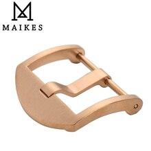 Maikes tornillo sesión ver hebilla corchete del acero inoxidable 316l de oro rosa 20mm 22mm 24mm pulido para panerai de correas de reloj