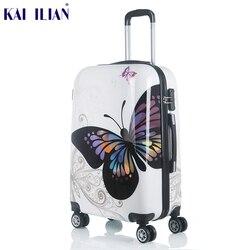 20 24 cal Cute Cartoon Student Rolling bagażu Spinner dzieci walizka koła Carry On podróży torba Hardside Trunk