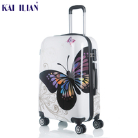 20 24 inch Cute Cartoon Student Rolling Luggage Spinner Children Trolley Suitcase Wheels Kids Carry On Travel Bag Hardside Trunk