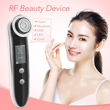 RF EMS LED Photon Cool Therapy Facial Cleanser Pores Shrink Skin Moisturizing Firming Tightening Acne Wrinkle Remover Massager