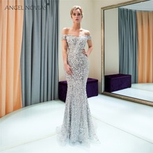 Angel Novias Long Mermaid Evening Dresses 2018