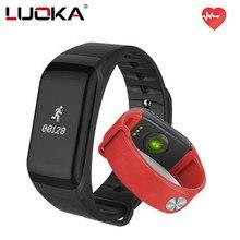 Luoka Фитнес Tracker браслет Heart Rate Мониторы Smart Band F1 SmartBand Приборы для измерения артериального давления с Шагомер Браслет