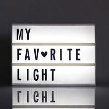 1pc A6 גודל LED קולנועי אור תיבת עם DIY 90 PCS שחור אותיות כרטיסי AAA סוללה מופעל קולנוע Lightbox
