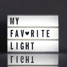 A6 Creative Cinema LED Porch Light Up Signกล่องLightboxข้อความจดหมายกล่องไฟLEDสัญลักษณ์บ้านงานแต่งงานโคมไฟdecor