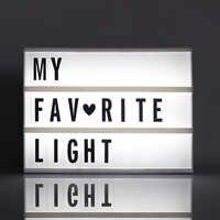 Cinéma créatif LED porche éclairer signe boîte Lightbox Message Board lettre cinématique LED symbole maison fête mariage lampe décor