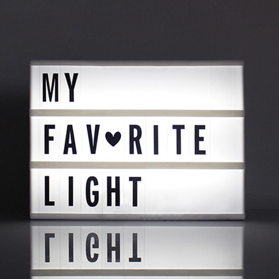 Criativo Caixa de Cinema LED Porch Luz Acima do Sinal Lightbox Mensagem Bordo Carta Cinematográfico Símbolo LEVOU Casamento Festa Em Casa Decoração Da Lâmpada