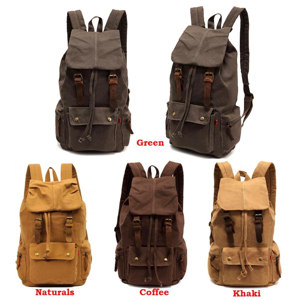 ФОТО  New AUGUR Vintage Backpack  Women Backpack School men Outdoor travel mochila feminina Canvas Hiking Rucksack