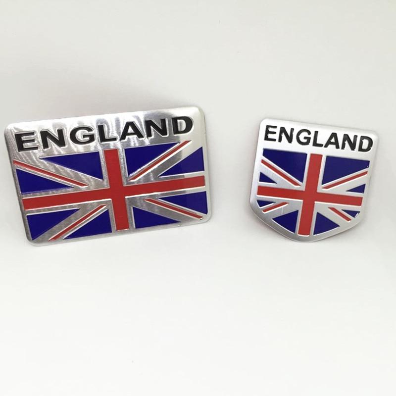 CARORSBEE 3D aluminum ENGLAND Emblem Badge Decal Car sticker British flag union jack nation car-styling Auto motorcycle bicycle